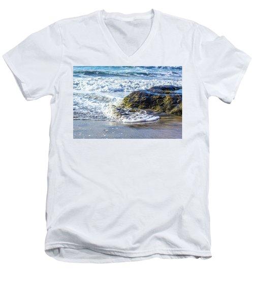 Wave Around A Rock Men's V-Neck T-Shirt