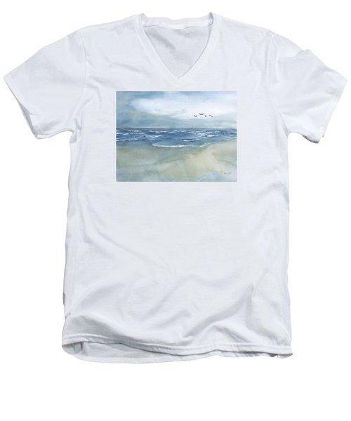 Beach Blue Men's V-Neck T-Shirt