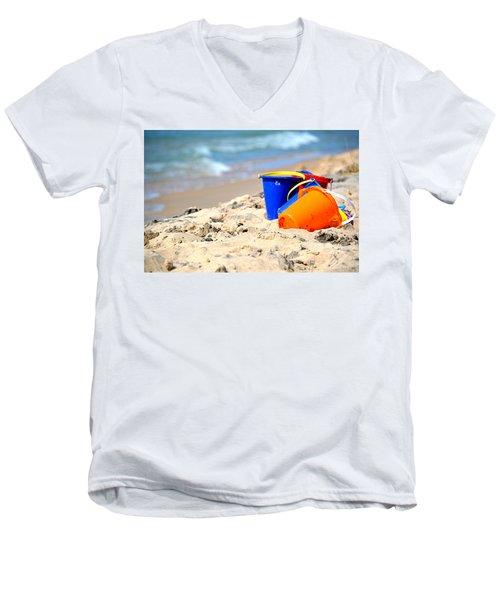 Beach Buckets Men's V-Neck T-Shirt
