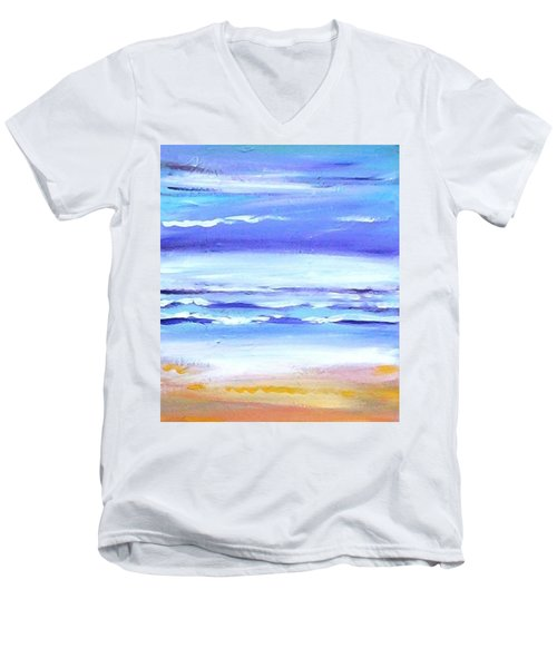 Beach Dawn Men's V-Neck T-Shirt by Winsome Gunning