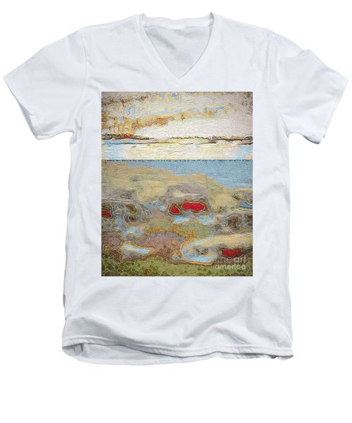 Men's V-Neck T-Shirt featuring the photograph Beach Dunes by William Wyckoff
