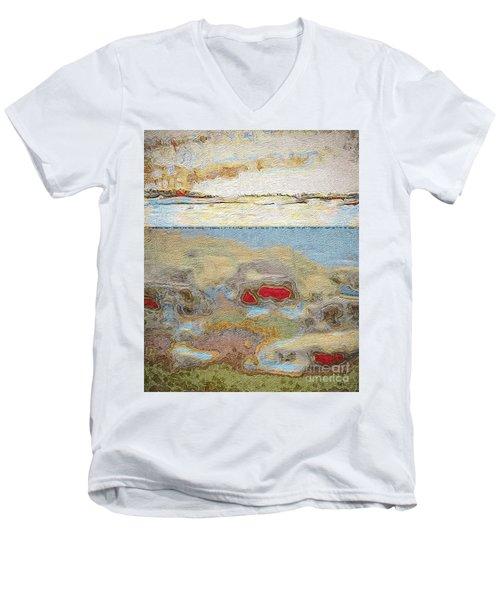 Beach Dunes Men's V-Neck T-Shirt by William Wyckoff