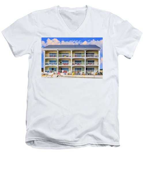 Beach Front Hotel Men's V-Neck T-Shirt