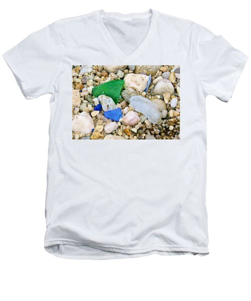 Beach Glass Men's V-Neck T-Shirt