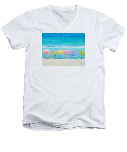 Beach Painting - Color Of Summer Men's V-Neck T-Shirt