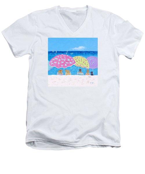 Beach Painting - Lazy Summer Days Men's V-Neck T-Shirt