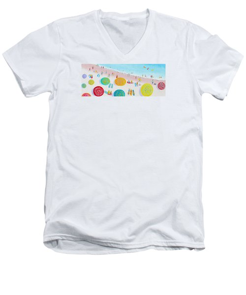 Beach Painting - The Simple Life Men's V-Neck T-Shirt