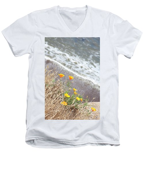 Beach Poppies Men's V-Neck T-Shirt