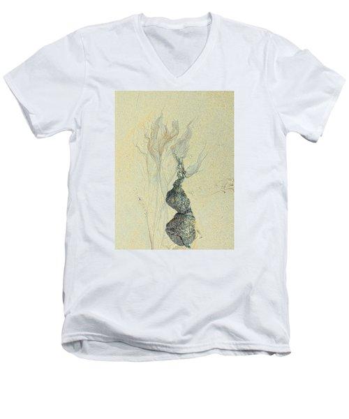 Beach Sand 3 Men's V-Neck T-Shirt by Marcia Lee Jones