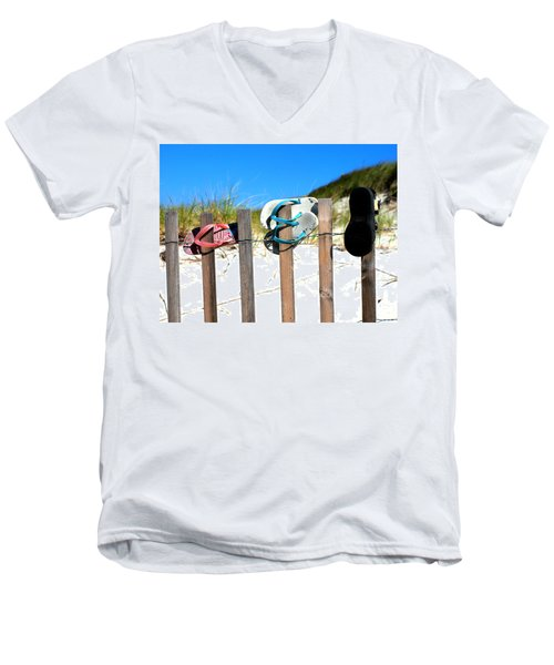 Beach Sandels  Men's V-Neck T-Shirt