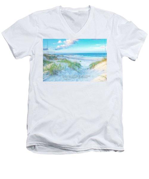 Beach Scripture Verse  Men's V-Neck T-Shirt
