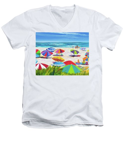 Umbrellas 2 Men's V-Neck T-Shirt