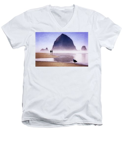 Beach Walk Men's V-Neck T-Shirt