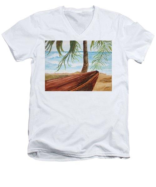 Beached Boat Men's V-Neck T-Shirt