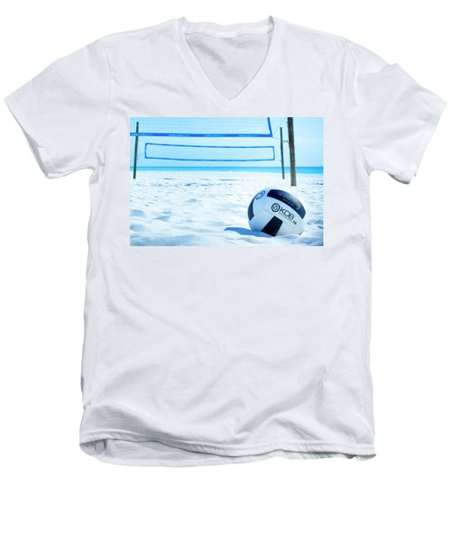 Volleyball On The Beach Men's V-Neck T-Shirt