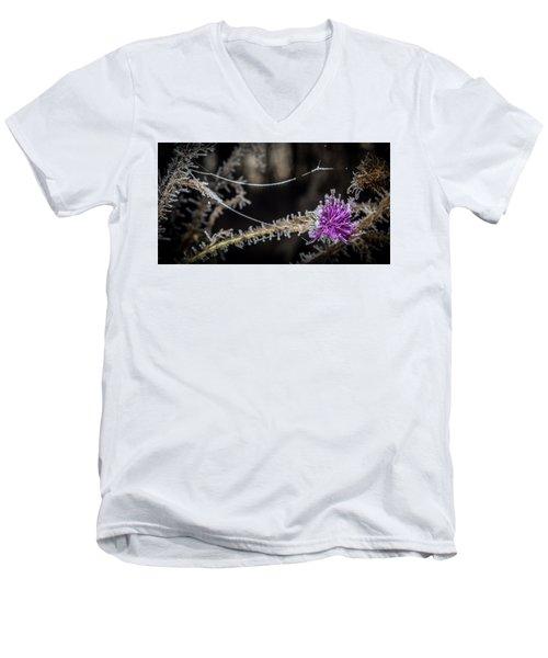 Beadwork Men's V-Neck T-Shirt by Annette Berglund