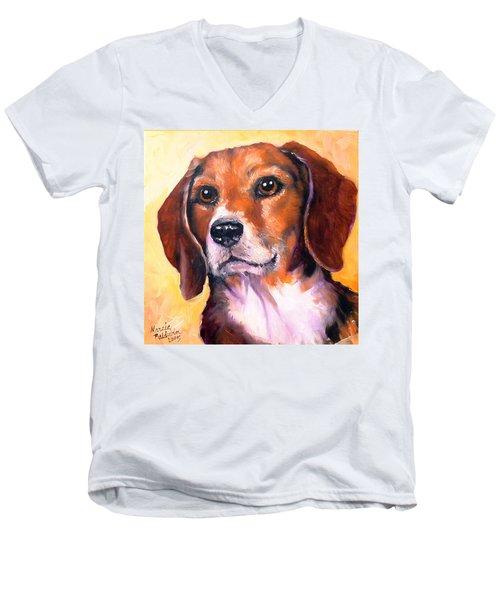 Beagle Billy Men's V-Neck T-Shirt