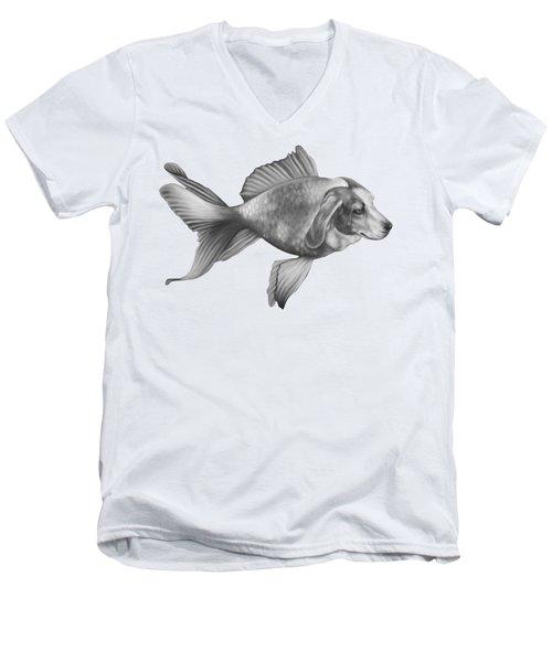 Beaglefish Men's V-Neck T-Shirt