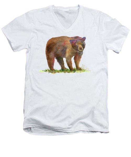 Bear In Mind Men's V-Neck T-Shirt