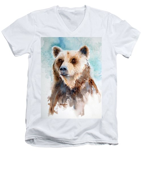 Bear Essentials Men's V-Neck T-Shirt