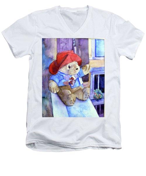 Bear In Venice Men's V-Neck T-Shirt