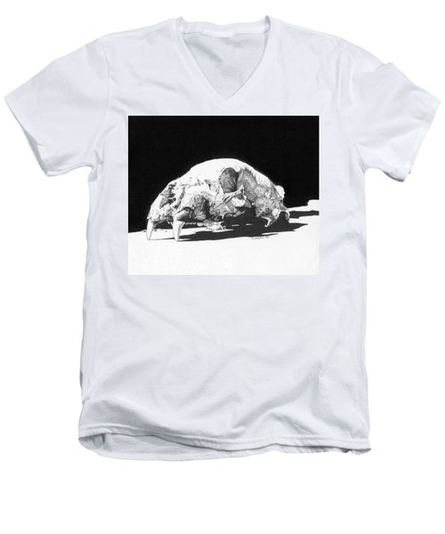 Bear Skull Men's V-Neck T-Shirt