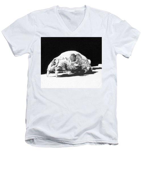 Bear Skull Men's V-Neck T-Shirt