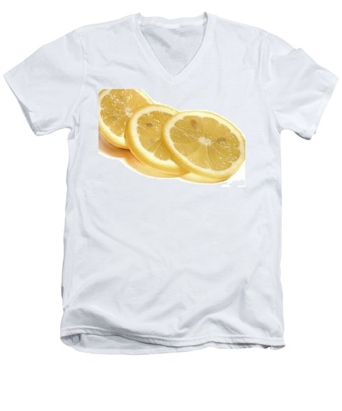 Beat The Heat With Refreshing Fruit Men's V-Neck T-Shirt by Nick Mares