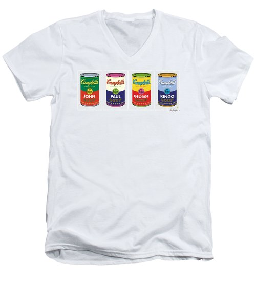 Beatle Soup Cans Men's V-Neck T-Shirt