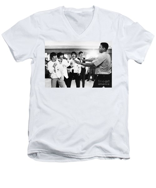 Beatles And Clay, 1964 Men's V-Neck T-Shirt