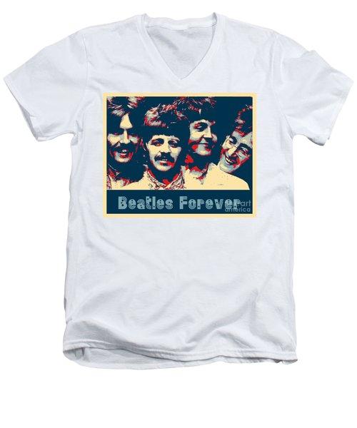 Beatles Forever Men's V-Neck T-Shirt