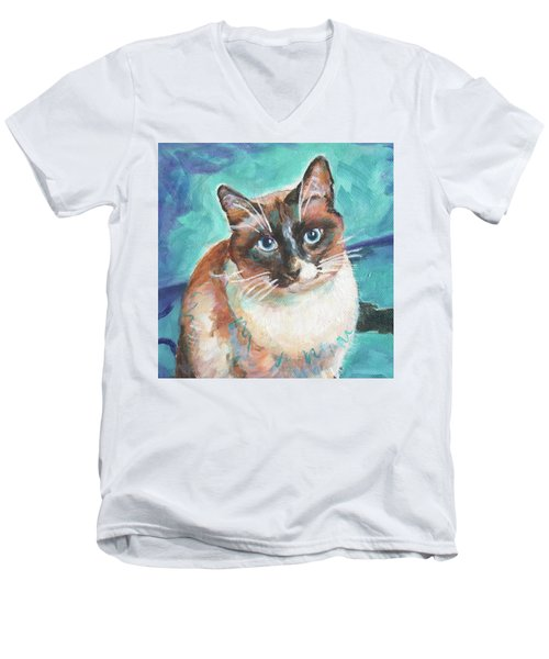 Beau Kitty Men's V-Neck T-Shirt
