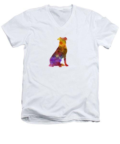 Beauceron In Watercolor Men's V-Neck T-Shirt