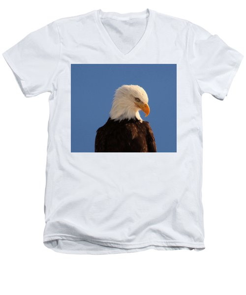 Men's V-Neck T-Shirt featuring the photograph Beautiful Eagle by Jeff Swan