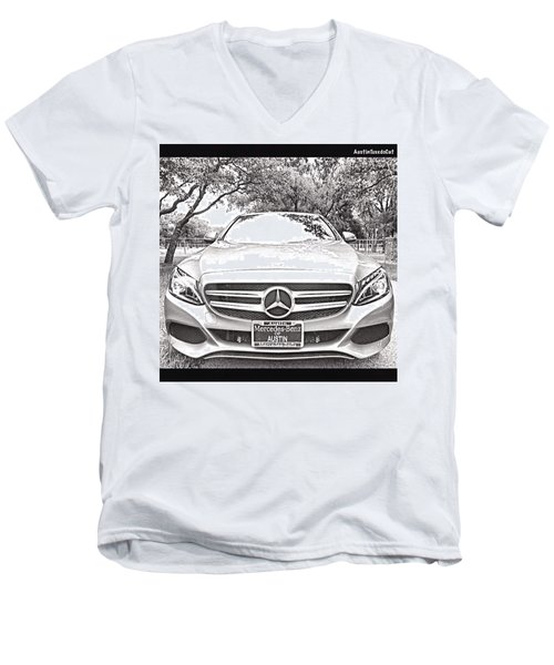 #beautiful Even In A #blackandwhite Men's V-Neck T-Shirt