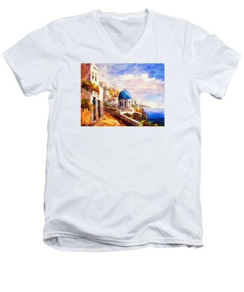 Beautiful Greece Men's V-Neck T-Shirt