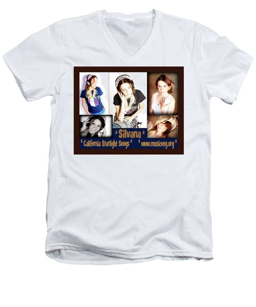 Beautiful Images Of Hot Photo Model Men's V-Neck T-Shirt by Silvana Vienne