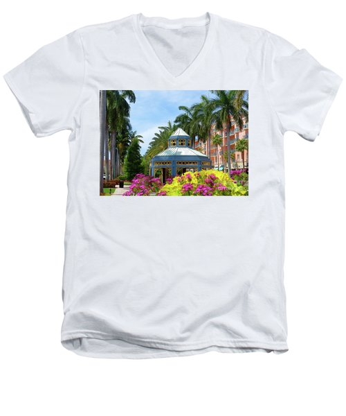 Beautiful Mizner Park In Boca Raton, Florida. #4 Men's V-Neck T-Shirt