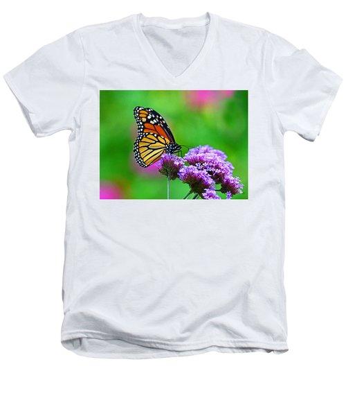 Beautiful Monarch Men's V-Neck T-Shirt