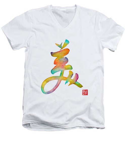 Beautiful Men's V-Neck T-Shirt by Oiyee At Oystudio