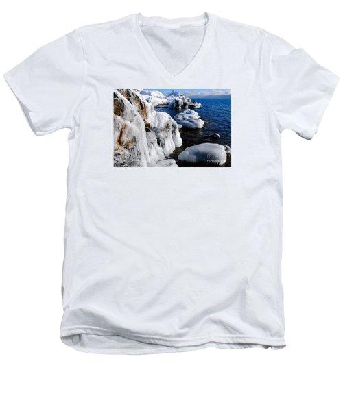 Beautiful Superior Ice Men's V-Neck T-Shirt by Sandra Updyke