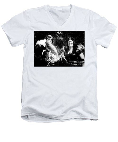 Men's V-Neck T-Shirt featuring the photograph Beauty And The Beasts by Bob Christopher