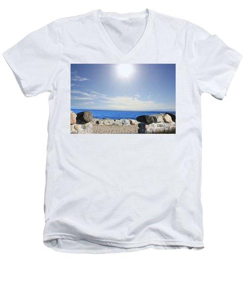 Beauty In The Distance Men's V-Neck T-Shirt by Judy Palkimas