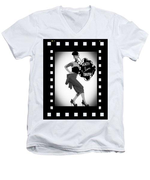 Beauty Love Truth Men's V-Neck T-Shirt