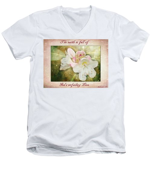 Beauty Of A Rhododendron Men's V-Neck T-Shirt