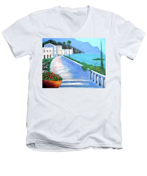 Beauty Of The Riviera Men's V-Neck T-Shirt