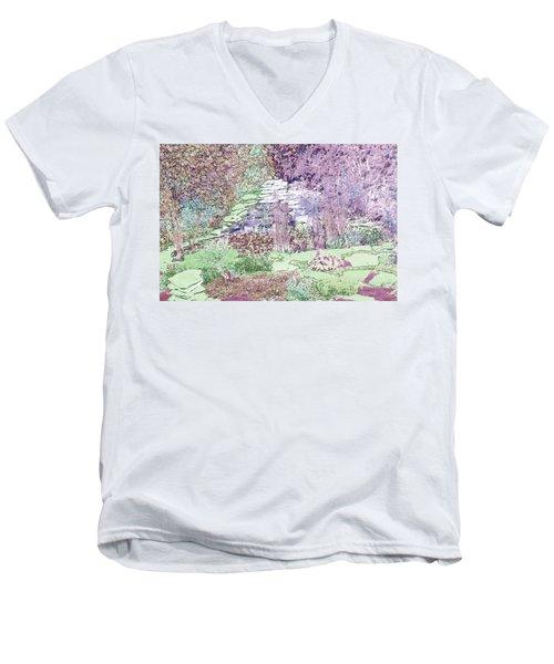 Beckie's Magic Garden Men's V-Neck T-Shirt