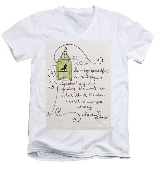 Becoming Yourself Men's V-Neck T-Shirt