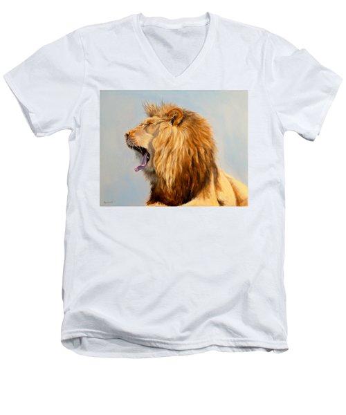 Bed Head - Lion Men's V-Neck T-Shirt