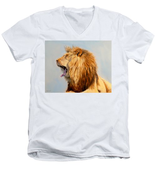 Bed Head - Lion Men's V-Neck T-Shirt